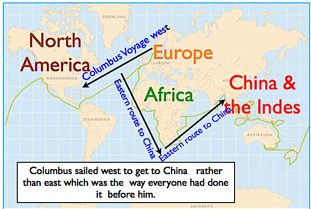 Christopher Columbus First Voyage Map